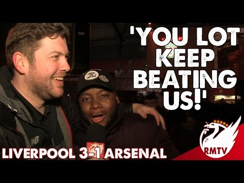 Liverpool v Arsenal 3-1 | 'You Lot Keep Beating Us!' | #LFC Fan Cam