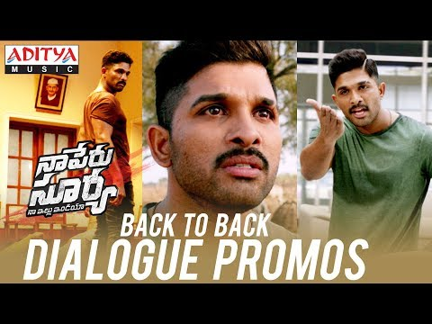 Back To Back Dialogue Promos | Naa Peru...