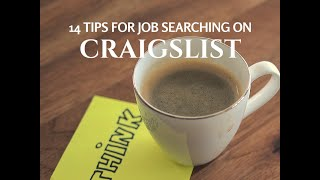 14 Tips For Job Searching on Craigslist