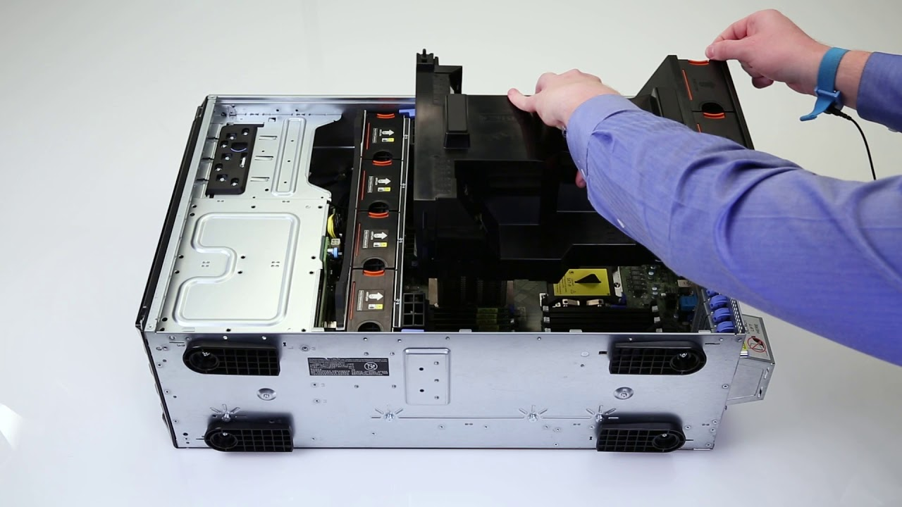 Dell EMC PowerEdge T640: Remove/Install Fan Assembly
