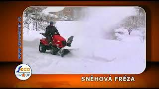 видео Садовая техника: трактор и снегоуборщик