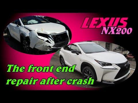 Lexus NX200. The front end repair. Ремонт переда.