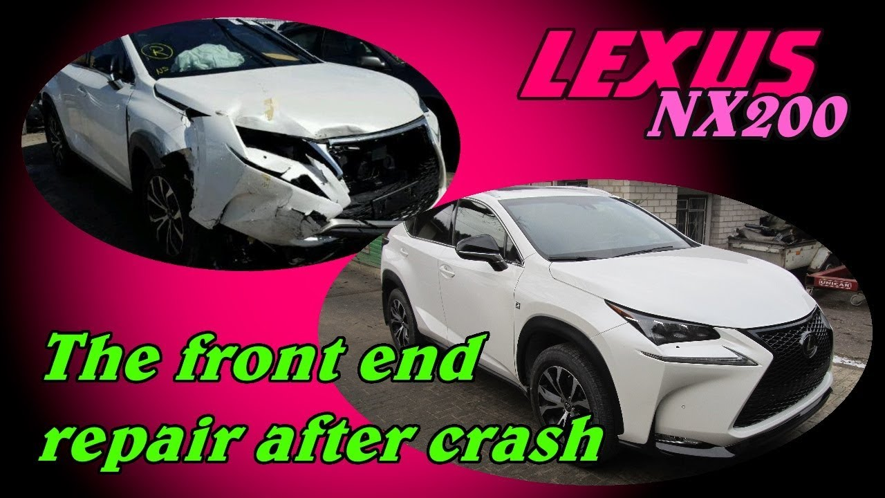 Lexus NX200. The front end repair. Ремонт переда.