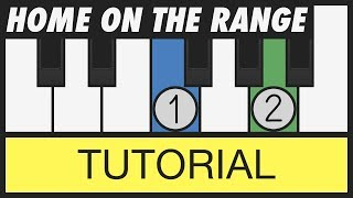 Home on the Range - How to Play - Easy Piano Tutorial