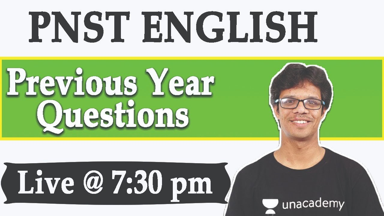 PNST ENGLISH || Previous Year Questions || By Shyam Mujavadiya