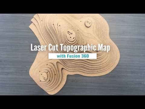 Laser Cut Topographic Map