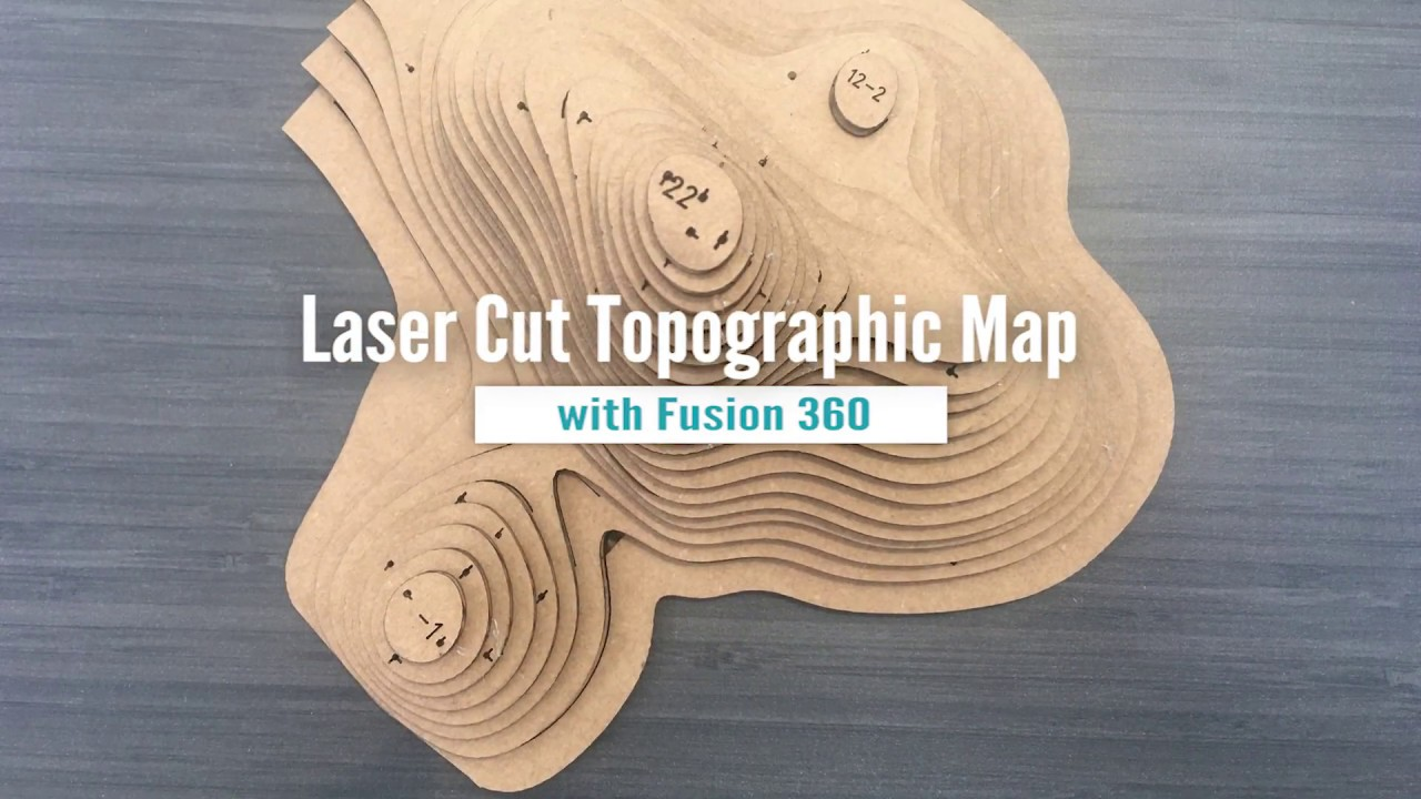 Laser Cut Topographic Map Youtube