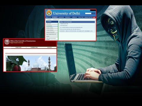 Websites of universities incluing DU and AMU hacked by Pakistani Hacker