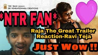 Raja the great trailer reaction - ravi teja