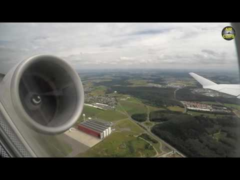 ROCKET Takeoff CRJ900 NextGen from Luxembourg - GREAT scenic views! [AirClips]