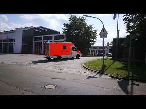 4 Rettungseinsätze Der Feuerwehr Bochum Wache 1 [2× Neuer RTW] [Horngruß]