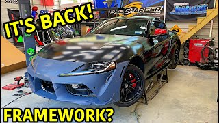 Rebuilding A Wrecked 2020 Toyota Supra Part 4