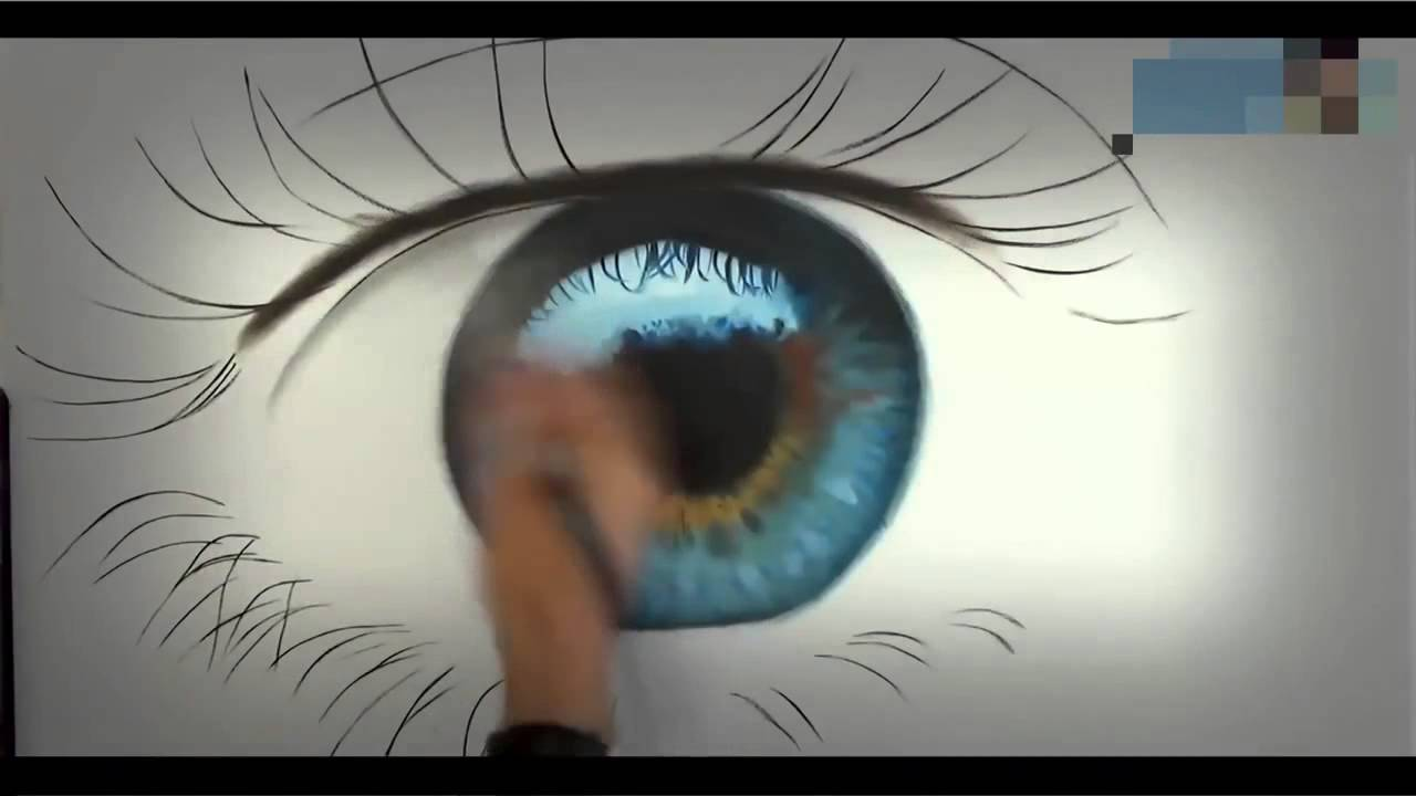 Oeil Realiste Comment Dessiner Un Oeil Realiste Speed Drawing Youtube