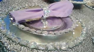DIY DollarTree Glam Bling Table setting! DIY Plates Coaster and Chargers!