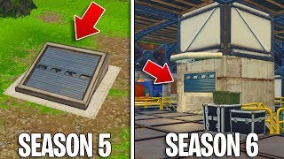 *NEW* WAILING WOODS BUNKER IN FORTNITE! - ALL Season 6 MAP LOCATIONS! (Fortnite Battle Royale)