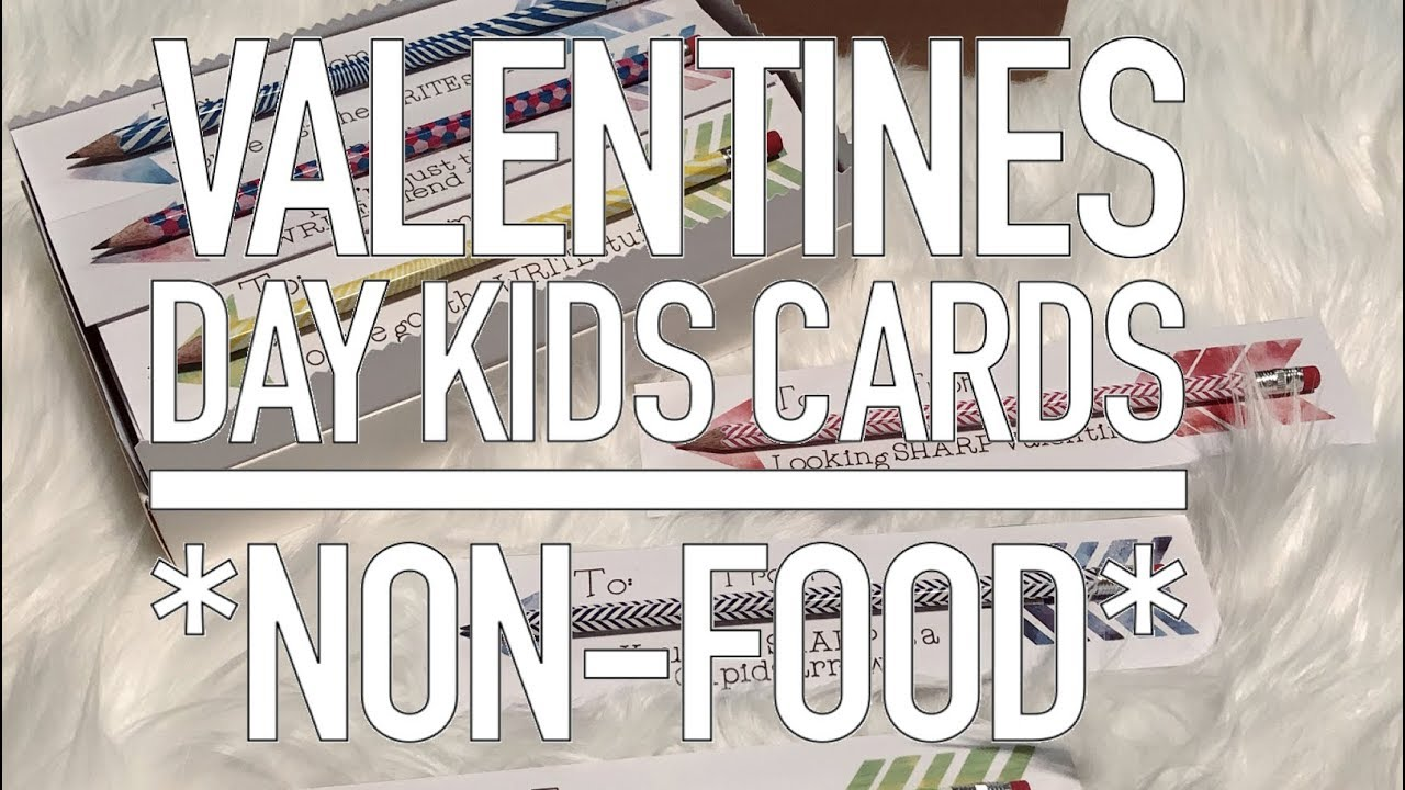 Diy Non Food Valentines Day Kids Cards Using Cricut Youtube