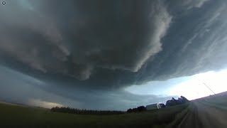 360 video of mothership supercell, lightning/hail machine near Copa, CO on May 26, 2017