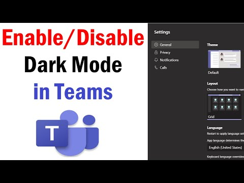 How To Enable Dark Mode on Microsoft Teams | How to Enable and Disable Dark Mode in Microsoft Teams
