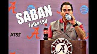 Alabama Crimson Tide Football: Nick Saban press conference before LSU