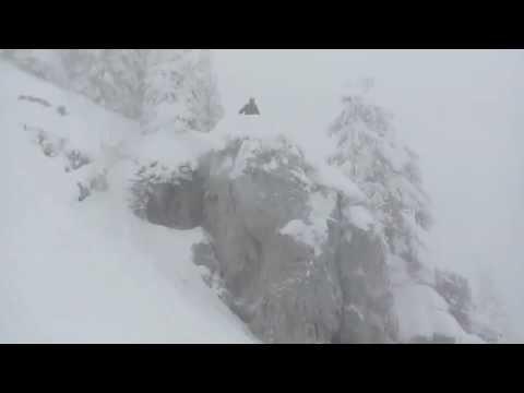 Skiing Cliffs In Whitefish, Montana  Big Mountain Ski Resort
