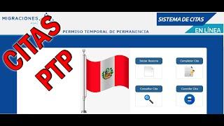 PTP Cómo llenar Cita Permiso Temporal de Permanencia Perú - Venezuela