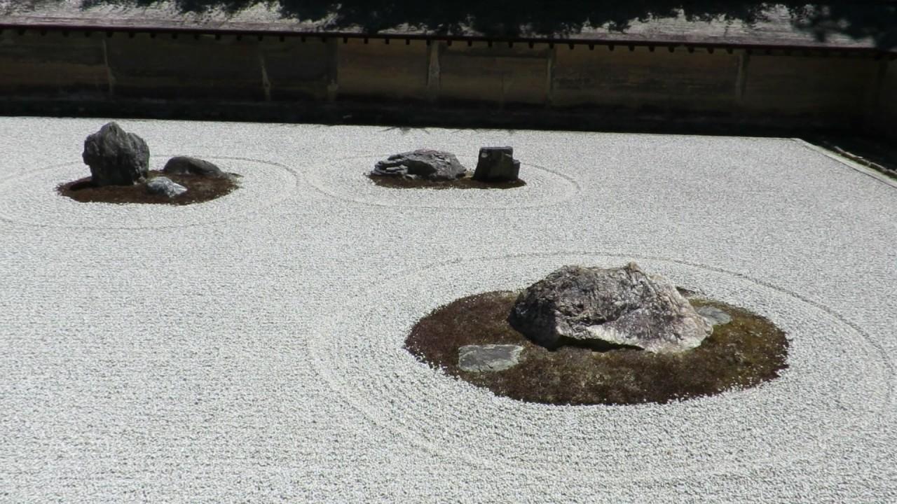 Zen Garden At Ryoanji Temple Kyoto Youtube