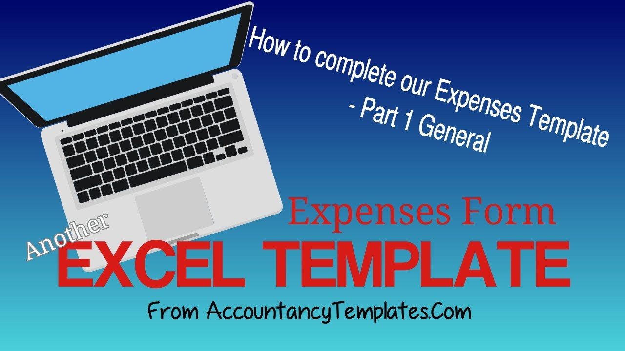 Excel Expenses Form Template From Accountancy Templates Part 1   General  Expense Sheet   YouTube  Expenditure Template