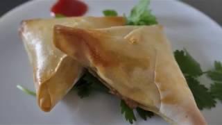 Baked / homemade samosa