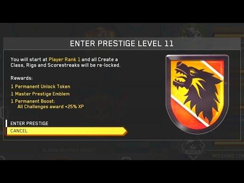 Infinite Warfare: 11-30th Prestige (WHAT HAPPENS??)