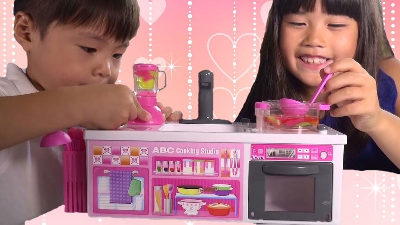 リカちゃん おもちゃ お水でぶくぶくお料理❤ABCクッキングスタジオ おままごと キッチン Baby Doll Kitchen Toy