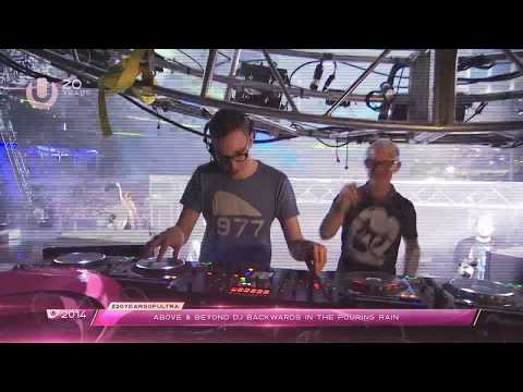 #20YearsOfUltra - Above & Beyond DJ Backwards in the Pouring Rain