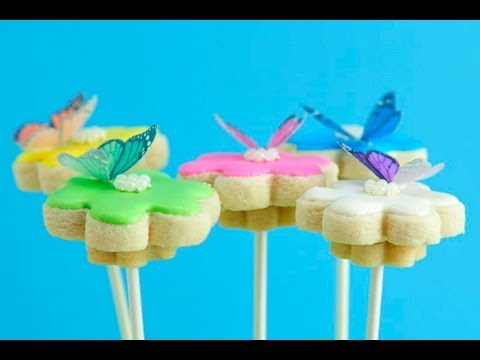 How To Decorate Cookies with Wafer Butterflies, Cookie Bouquet
