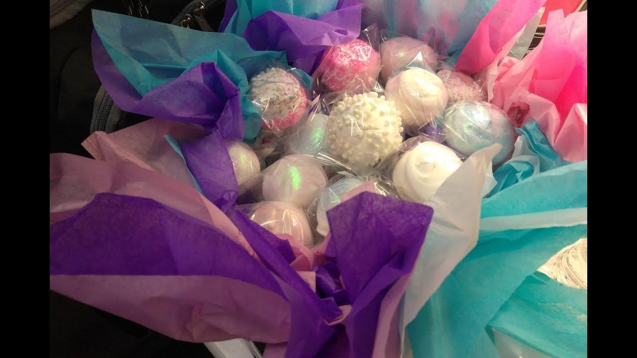 Twirl, Swirl & Glitter Strawberry Bouquet Cake Pops - YouTube