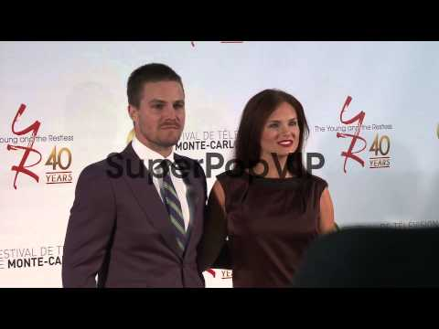 Cassandra Jean and Stephen Amell at 53rd Monte-Carlo Tele...