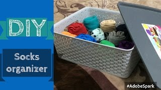 DIY Socks Organizer | Idea to keep the socks pair together | How to organize Socks