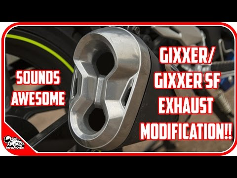 EXHAUST MODIFICATION (DIY) FOR GIXXER SF/ GIXXER   ROARS LIKE A LION   MOTOVIBE