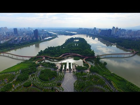 "Yanweizhou Park by Turenscape controls floods ""in an ecological way"""