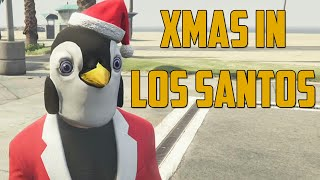 CHRISTMAS IN LOS SANTOS! (Grand Theft Auto V Online)