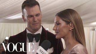 Gisele Bündchen on Her Sustainable Met Gala Dress | Met Gala 2019 With Liza Koshy | Vogue
