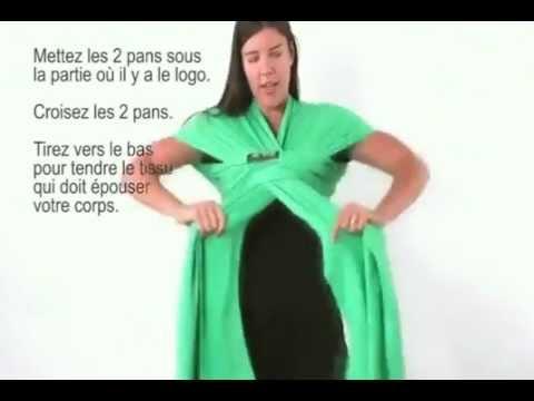 fa8bbf47b1db Nouer l écharpe de portage boba wrap - YouTube