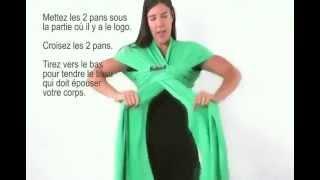 nouer l charpe de portage boba wrap