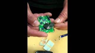 garage door remote how to change the batteries