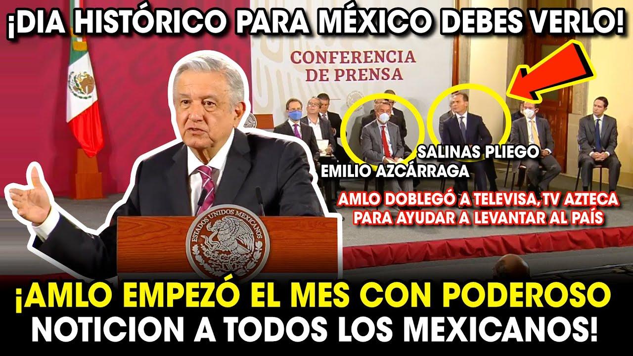 AMLO Inicia el Mes con PODEROSO NOTlCIÓN para Todo México ¡Doblegó a los Medios para Ayudar al País!