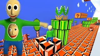 BALDI IS PLAYING.... Super Fall Flat: World 2 (NEW Mario map)