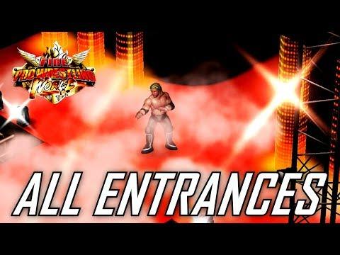 Fire Pro Wrestling World PS4 - All NJPW Entrances! (FPWW Official Entrances)