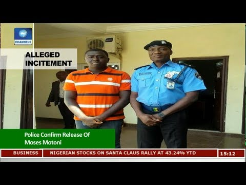 Police Confirm Release Of Moses Motoni |News Across Nigeria|