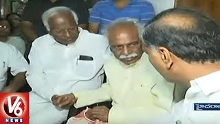 TRS Leaders Pays Tribute To Bandaru Dattatreya`s Son Vaishnav | Hyderabad | V6 News