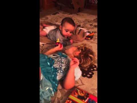 Carter plays with Finn