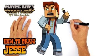 How to Draw Jesse (Minecraft Story Mode)- Kids Art Lesson