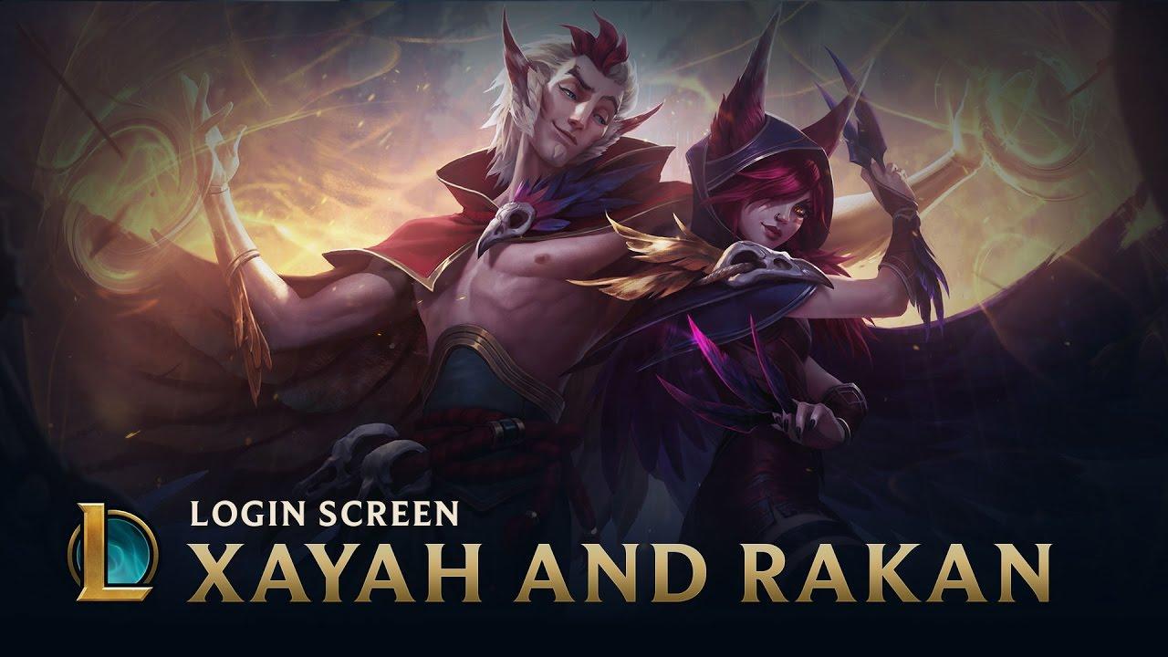 Xayah & Rakan, the Rebel & the Charmer   Login Screen - League of Legends